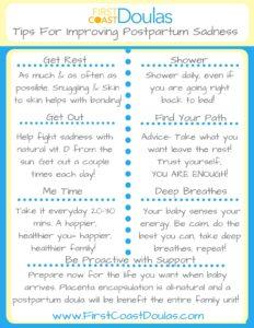 Improving Postpartum Sadness